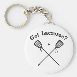 Got Lacrosse Basic Round Button Key Ring