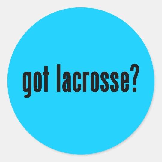 got lacrosse? classic round sticker