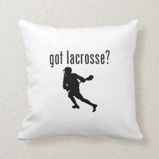 got lacrosse? throw pillow