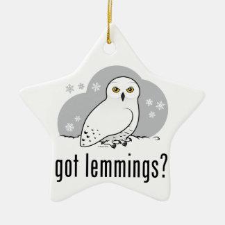 got lemmings? christmas ornament