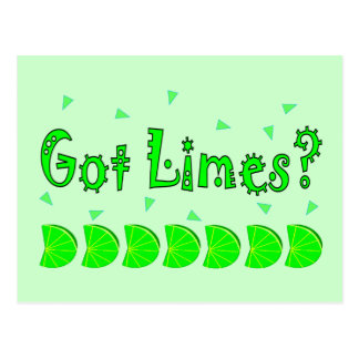 Got Limes Confetti Lime Lovers Shirts Gifts Post Card