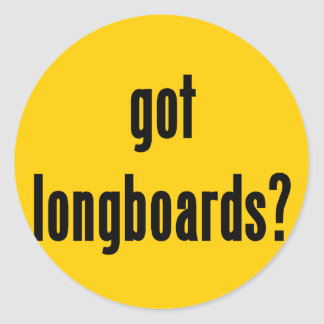 got longboards? classic round sticker