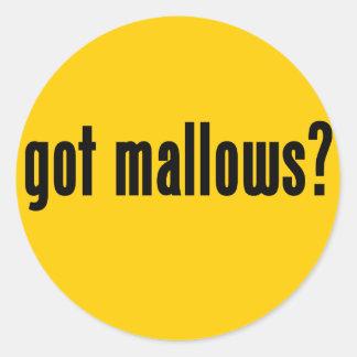got mallows? round stickers