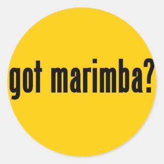 got marimba? classic round sticker