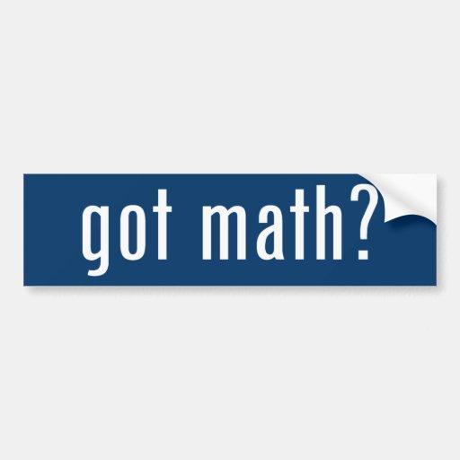 got math? bumper sticker