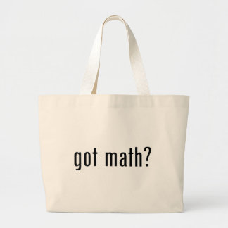 got math? large tote bag