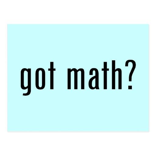 got math? postcard
