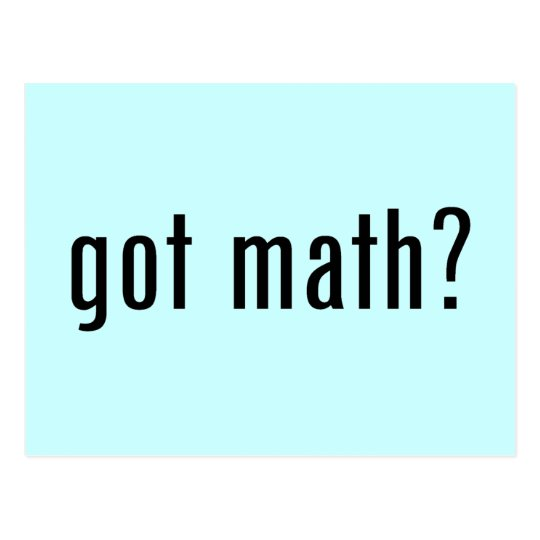 got math? postcard