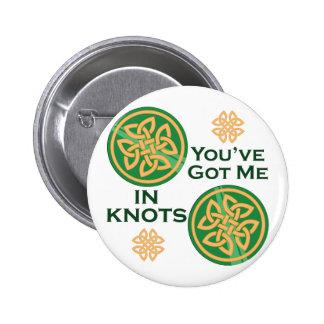 Got Me In Knots 6 Cm Round Badge