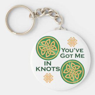 Got Me In Knots Basic Round Button Key Ring