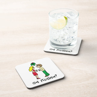 Got Mistletoe Holiday Drink Coasters