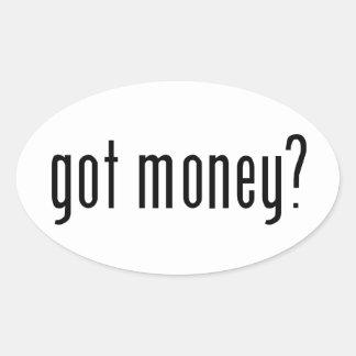 got money? oval sticker