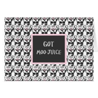 Got Moo Juice – Cute Cartoon Cows Card