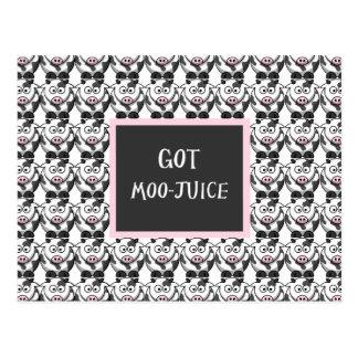Got Moo Juice – Cute Cartoon Cows Postcards