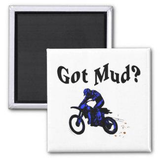 Got Mud Motorcycle Square Magnet