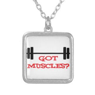 Got Muscles? Square Pendant Necklace