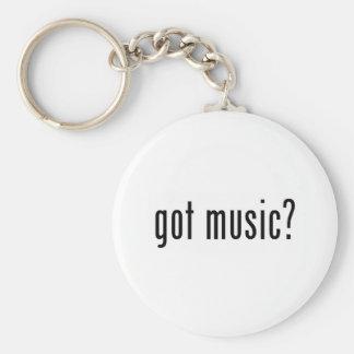 got music? basic round button key ring
