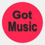 Got Music Round Stickers