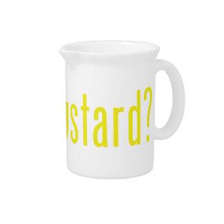 got mustard? pitcher