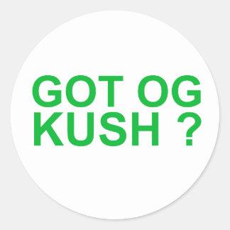 Got OGKUSH Round Sticker