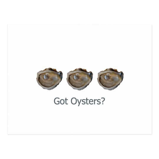 got oysters? postcard