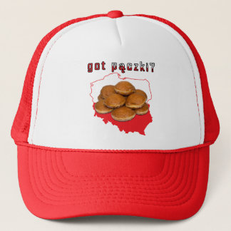 got paczki? Polish Map Trucker Hat