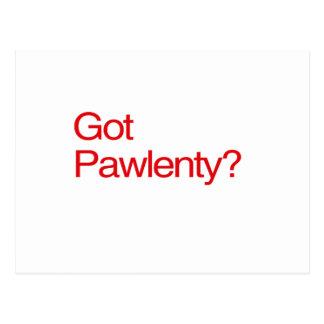 GOT PAWLENTY POSTCARD