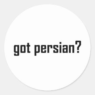 got persian? round sticker
