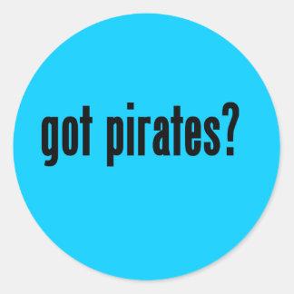 got pirates? round stickers