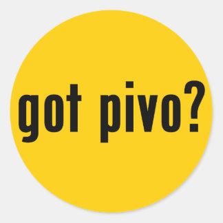 got pivo? round sticker