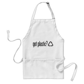 got plastic? Recycling Sign Aprons