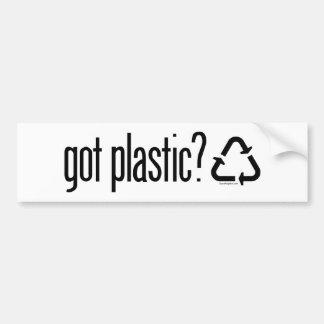 got plastic? Recycling Sign Bumper Sticker