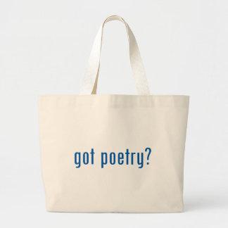 got poetry? jumbo tote bag