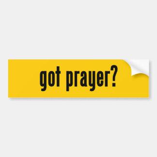 got prayer? bumper sticker
