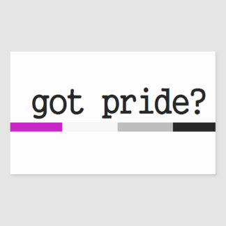 Got Pride? Asexual Pride Sticker