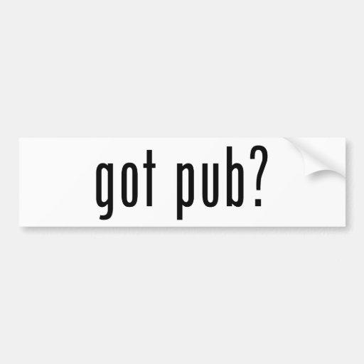 got pub? bumper sticker