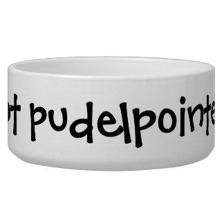"""Got Pudelpointer?"" Dog Bowl"