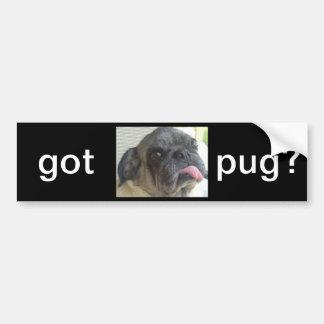 got pug? bumpersticker bumper sticker