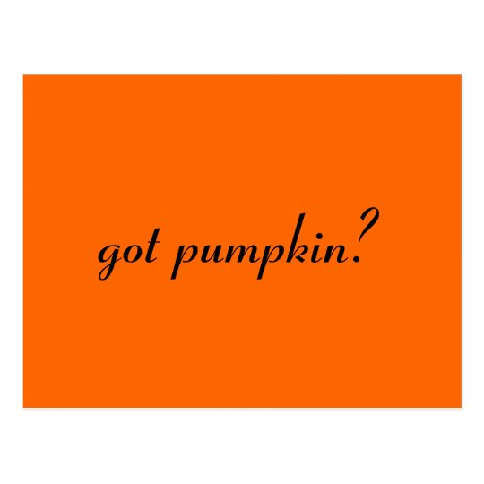 got pumpkin? postcard