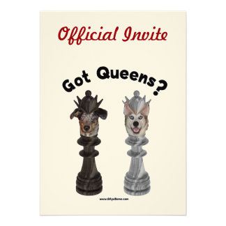 Got Queens Chess Dogs Personalized Announcements