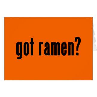 got ramen? greeting card