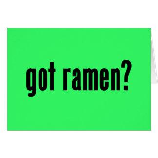 got ramen card