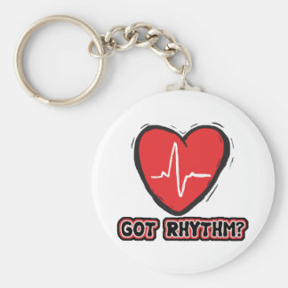 Got Rhythm Basic Round Button Key Ring