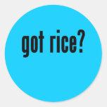 got rice? round sticker