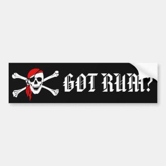 Got Rum Bumper Sticker Car Bumper Sticker
