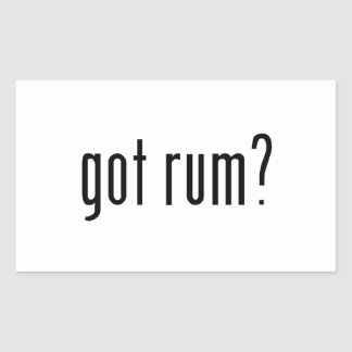 got rum? rectangular sticker