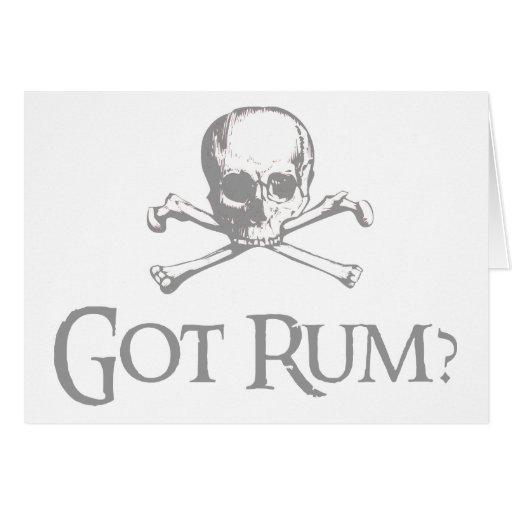 Got Rum Skull and Crossbones Cards