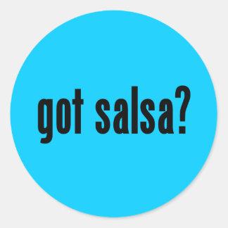 got salsa? classic round sticker
