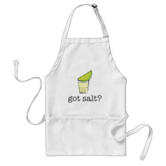 Got Salt? Tequila Shot with Lime Standard Apron