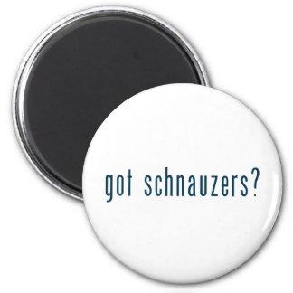 got schnauzers 6 cm round magnet